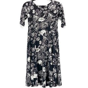 Charter Club Petite Fit & Flare Floral MIDI Dress